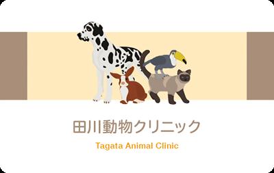 犬、猫、ウサギ、鳥、動物病院の診察券
