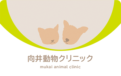 犬と猫の優しいトーンのイラストの診察券