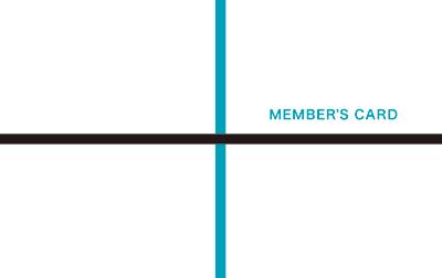 ラインが直角に交差する診察券のデザイン