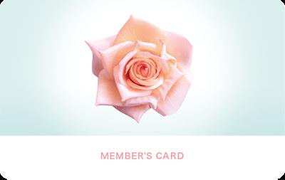 薔薇の写真を使った診察券