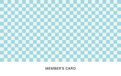 格子模様の診察券のデザイン