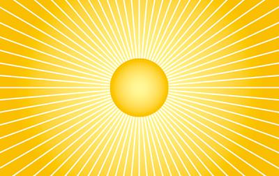 強い光を感じる放射線をモチーフにしたデザイン